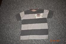 Pruhované šedé triko hema, vel. 122-128, hema,122