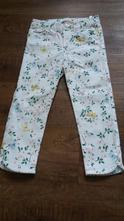 Bílé kalhoty s kvítky, h&m,116