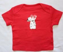 Aa47. tričko s dalmatinem 3-6 měs, f&f,68