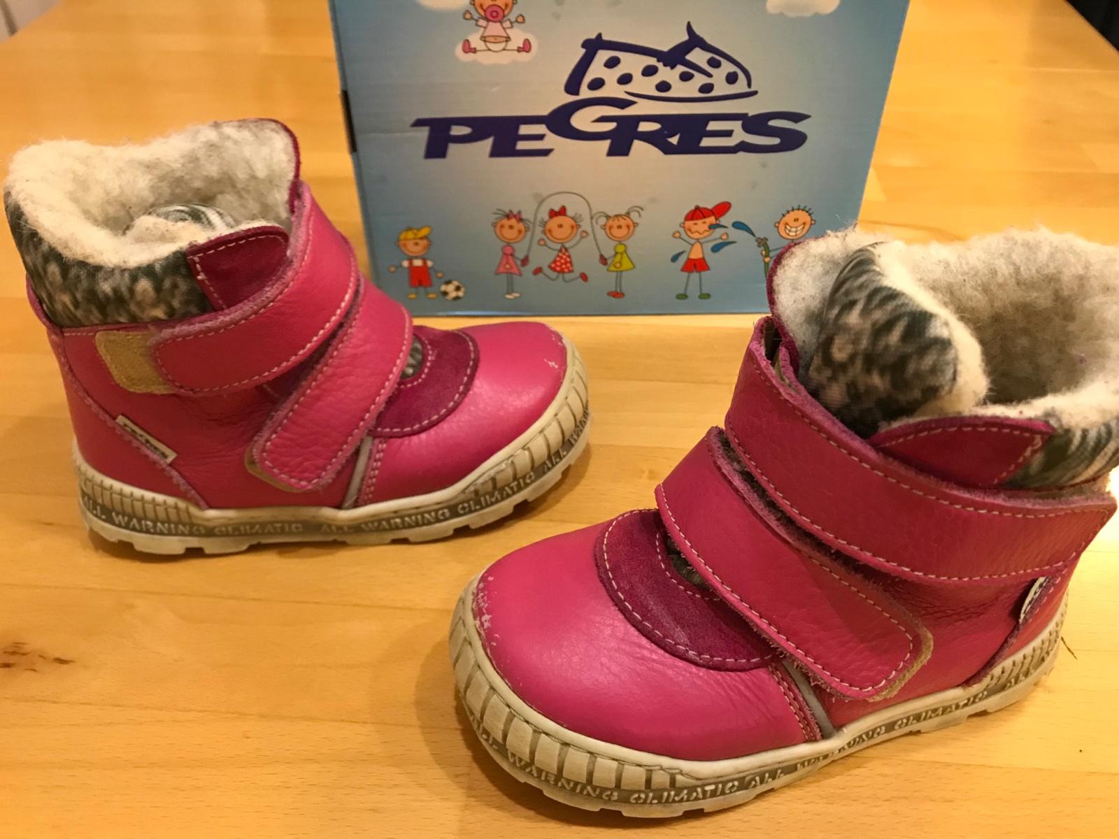 4f7271ee169 Dětské kožené zimní boty vel. 25