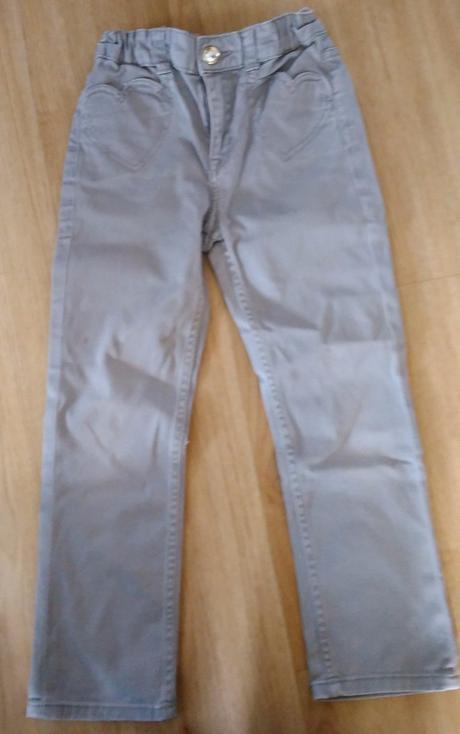 E184. šedé kalhoty, h&m,116