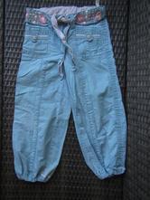 Kalhoty s výšivkou, plátené, next,110