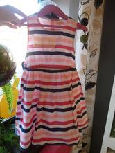 Plátěné pruhované šaty, bluezoo,110