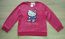 Sametové tričko s hello kitty vel. 110-116, h&m,110
