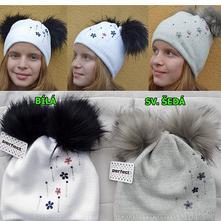 Dokonalé zimní čepice pro holky a maminky, 128 - 158