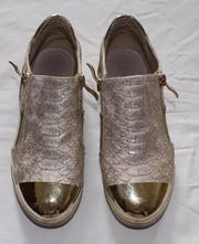 Zlaté podzimní boty vel. 33, 33