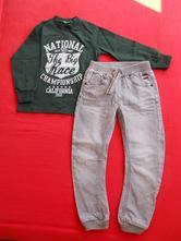 Mikina + džíny pro kluka (cca 6 let),