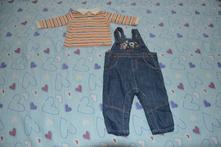 Komplet, vel. 68, zn. caa, triko + kalhoty, c&a,68