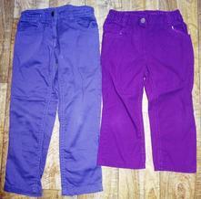 Fialové kalhoty vel 110+ 3/4 kalhoty 104, 104