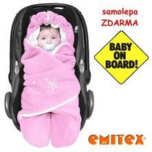 Emitex zavinovačka zoe - růžová/bílá, emitex