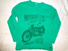 Super zelené tričko s motorkou, rebel,158