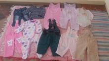 Balík oblečení na holčičku 6 - 9 měsíců,