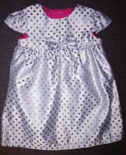 Stříbrné slavnostní šaty f&f, vel.74-80, 74