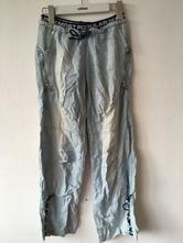 Kalhoty lehké džínové, s