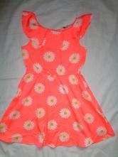 Krásné lehounké svítivé šaty s kopretinama, h&m,122