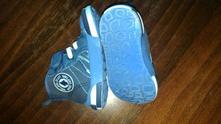 Modré kotníkové plátěné boty, 22