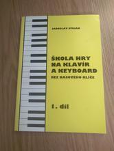 Kniha/sešit škola hry na klavír a keyboard,