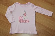 Tričko dl.rukáv ice princess v. 86-92, lupilu,86