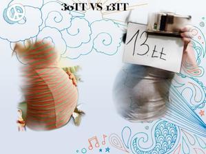 První těhotenství s Ellie 30tt a druhé těhotenství ve 13tt :D už se těším na porovnávačku ze 30tt :D
