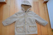 Semišový kabátek s kožíškem, next,92