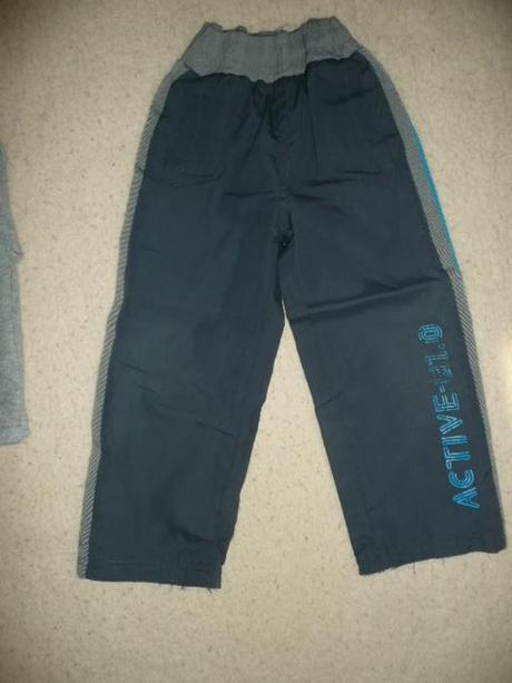 Šusťákové kalhoty tenké podšité vel 98, 98