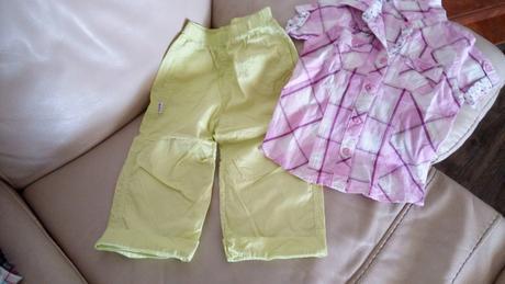 Plátěné kalhoty a košile,