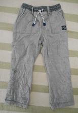 Letní plátěné kalhoty 18-24 m, mothercare,92