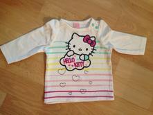 Dětské tričko s dlouhým rukávem hello kitty , c&a,62