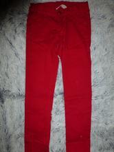 Červené džíny slimky, h&m,128