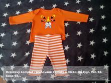 Oranžový komplet tygr, f&f,62