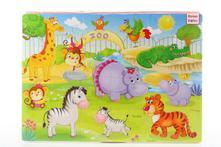 Pěnové puzzle 24 dílků zoo,
