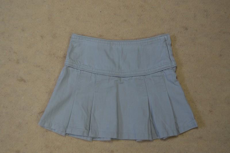 Dívčí khaki světle lněná plátěná sukně h m c1315ef813