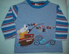 Frajerské tričko s myškou vel. 86 - 1-1,5 roku, mini mode,86