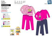 Dívčí bavlněné pyžamo mimoňi, disney,92