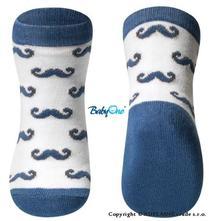 Bavlněné ponožky baby ono 12m+ - knírečky, 18