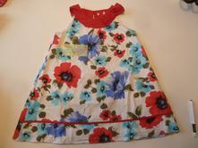 Plátěné šaty s podšívkou, 104