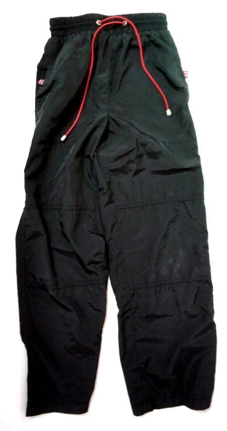 S27 - tenké šusťákové kalhoty černé, 128