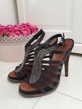 Sandálky na vysokém podpatku, vel.37, (mixér), mixer,37