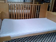 Dřevěná postýlka 145x75, 75,140