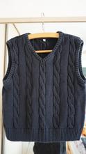Příjemná pohodlná pletená vesta na košili v 128, george,128