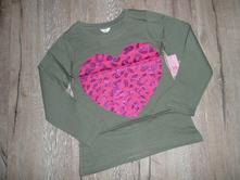 Tričko srdce flitry vel 110-116, pepco,110