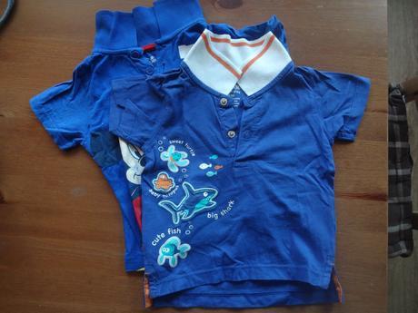 2x tričko s límečkem, vel.74/80, lupilu,74