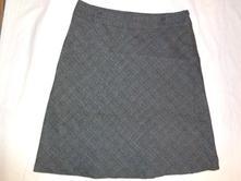 Nádherná teplejší káro sukně - šedočerná, 46 / xl / xxl