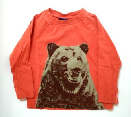 A200 - oranžové tričko s medvědem, cherokee,80
