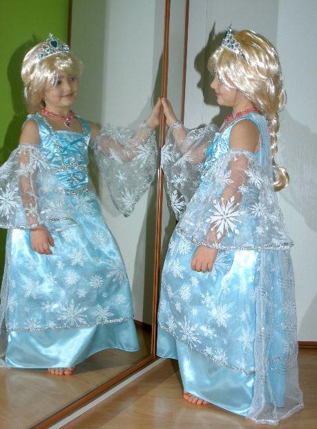 Karnevalový kostým šaty ledová princezna,