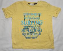 V49. žluté tričko s číslem 9-12 měs., f&f,80