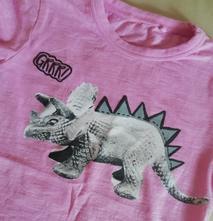 Bavlněné tričko next s dinosaurem, next,92