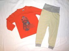 Nádherný pohodičkový komplet trička a kalhot, m&co,80