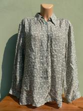 Olivová halenka blůza košile cc delmod - vel.52, 52