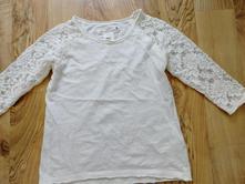 Tričko s 3/4 krajkovým rukávem 110/116, h&m,110